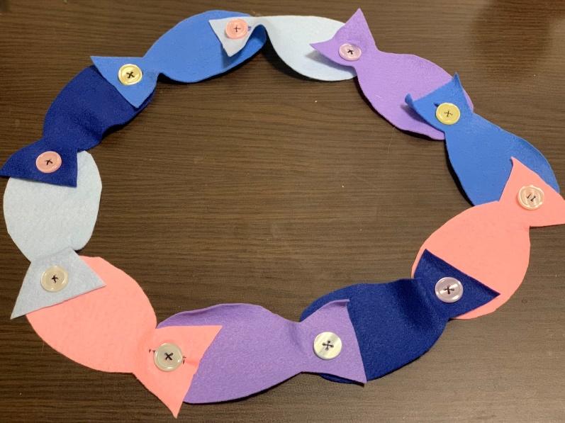 フェルトで作った魚