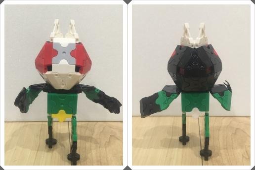 仮面ライダーブラックRXの正面と後ろ姿