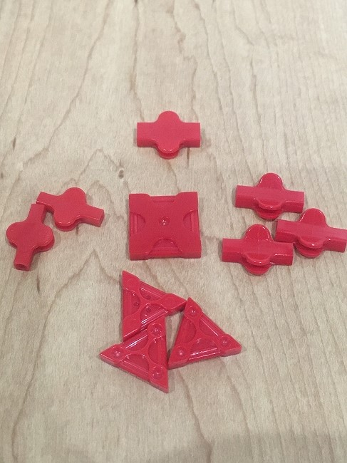 角を作るのに必要なパーツ
